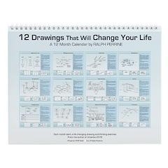 12 Drawings Wall Calendar