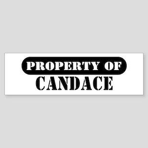 Property of Candace Bumper Sticker