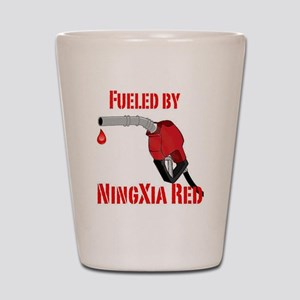 Fueled by Ningxia Red Shot Glass