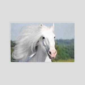 White Stallion 3'x5' Area Rug