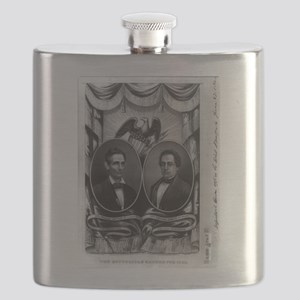 The Republican banner for 1860 - 1860 Flask