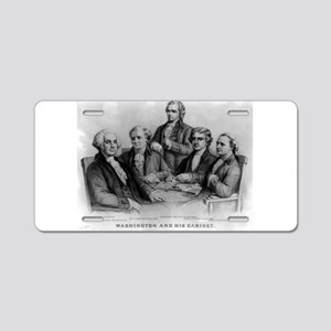 Washington and his cabinet - 1876 Aluminum License