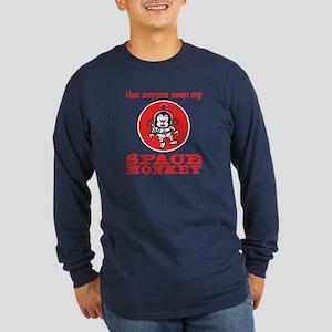 Space Monkey Long Sleeve Dark T-Shirt