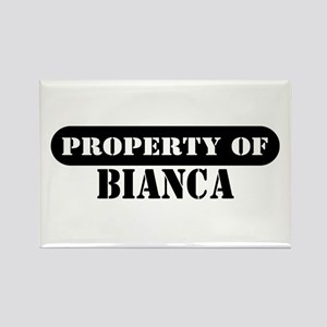Property of Bianca Rectangle Magnet