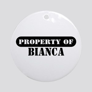 Property of Bianca Ornament (Round)