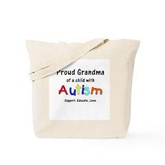 Grandma Autism Tote Bag