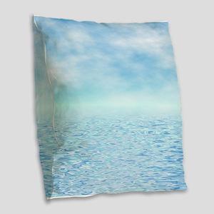 Sea of Serenity Burlap Throw Pillow