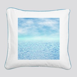 Sea of Serenity Square Canvas Pillow