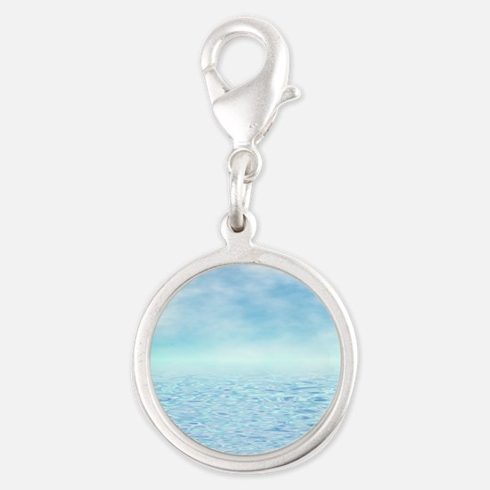 Sea of Serenity Silver Round Charm