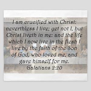 Galatians 2:20 King Duvet