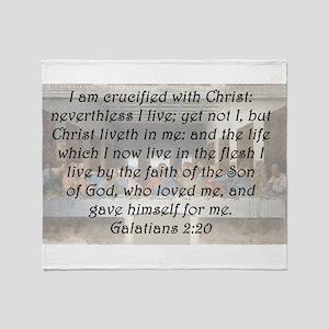 Galatians 2:20 Throw Blanket