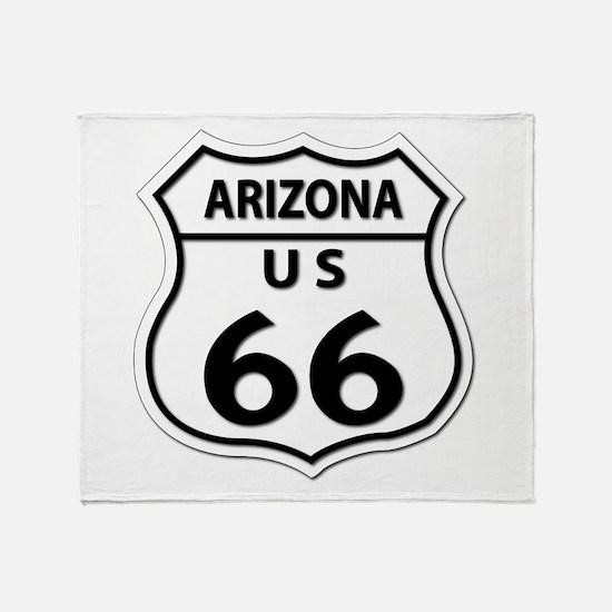 U.S. ROUTE 66 - AZ Throw Blanket