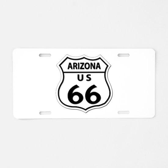U.S. ROUTE 66 - AZ Aluminum License Plate