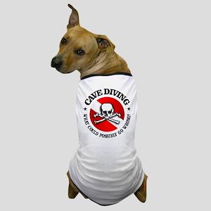 Cave Diving (Skull) Dog T-Shirt