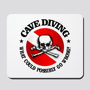 Cave Diving (Skull) Mousepad