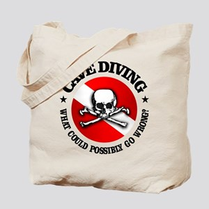 Cave Diving (Skull) Tote Bag