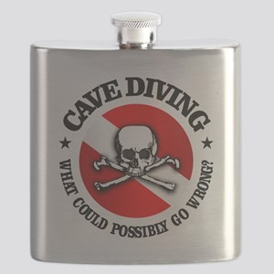Cave Diving (Skull) Flask