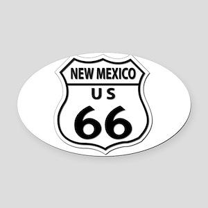 U.S. ROUTE 66 - NM Oval Car Magnet