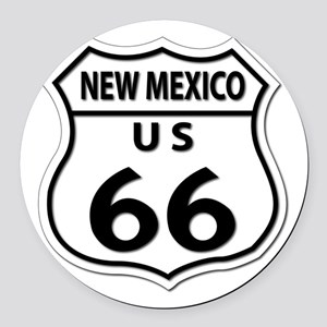 U.S. ROUTE 66 - NM Round Car Magnet