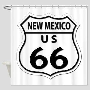 U.S. ROUTE 66 - NM Shower Curtain