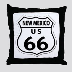 U.S. ROUTE 66 - NM Throw Pillow