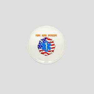 Fire and Rescue Emblem Mini Button