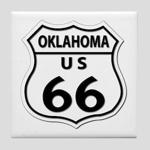 U.S. ROUTE 66 - OK Tile Coaster