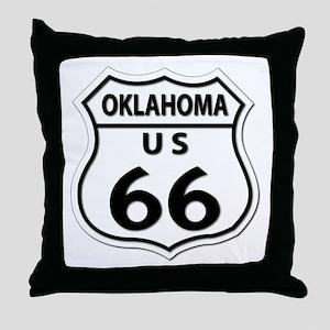 U.S. ROUTE 66 - OK Throw Pillow