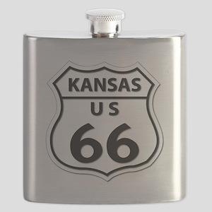 U.S. ROUTE 66 - KS Flask