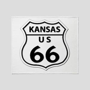 U.S. ROUTE 66 - KS Throw Blanket