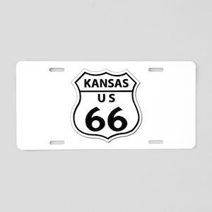 U.S. ROUTE 66 - KS Aluminum License Plate
