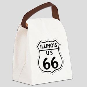 U.S. ROUTE 66 - IL Canvas Lunch Bag