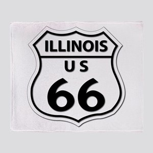 U.S. ROUTE 66 - IL Throw Blanket