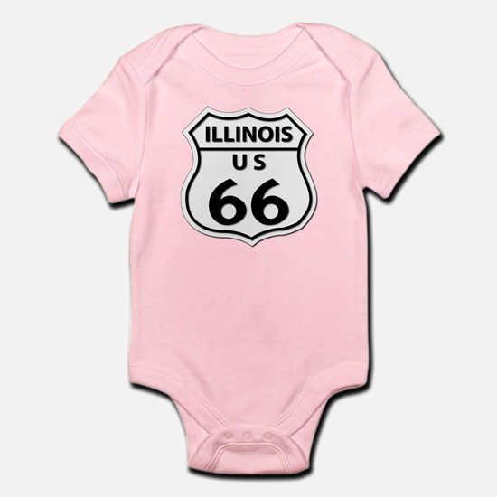 U.S. ROUTE 66 - IL Infant Bodysuit