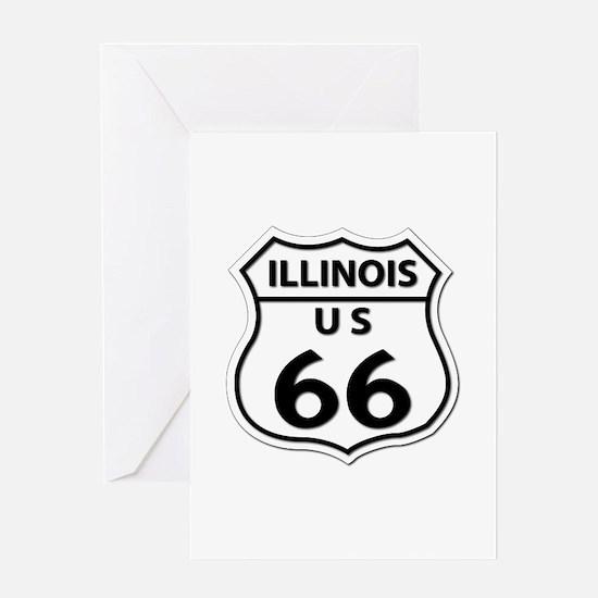 U.S. ROUTE 66 - IL Greeting Card