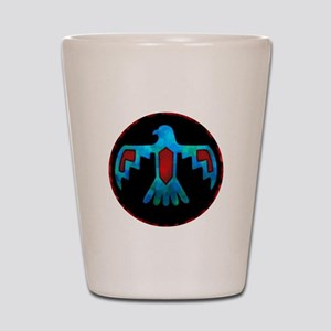 Red and Blue Thunderbird Shot Glass