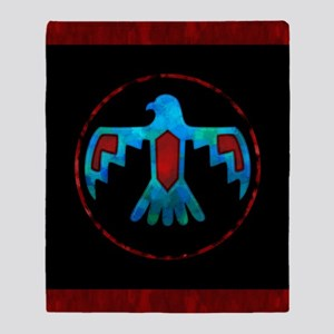 Red and Blue Thunderbird Throw Blanket