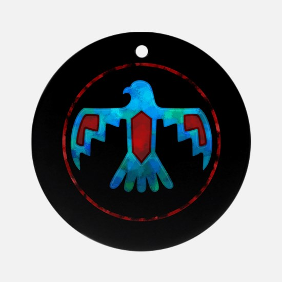 Red and Blue Thunderbird Ornament (Round)