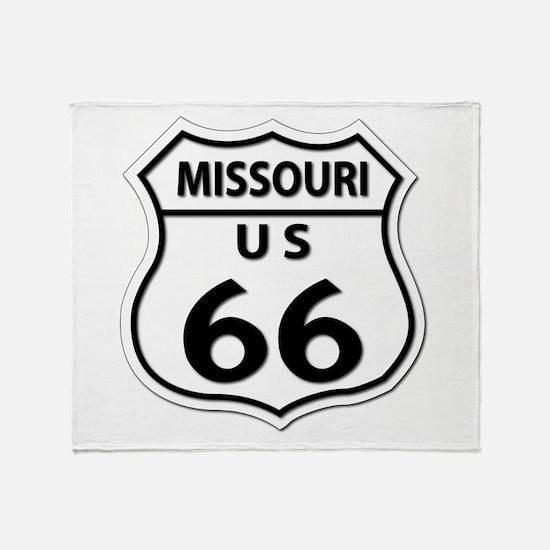 U.S. ROUTE 66 - MO Throw Blanket