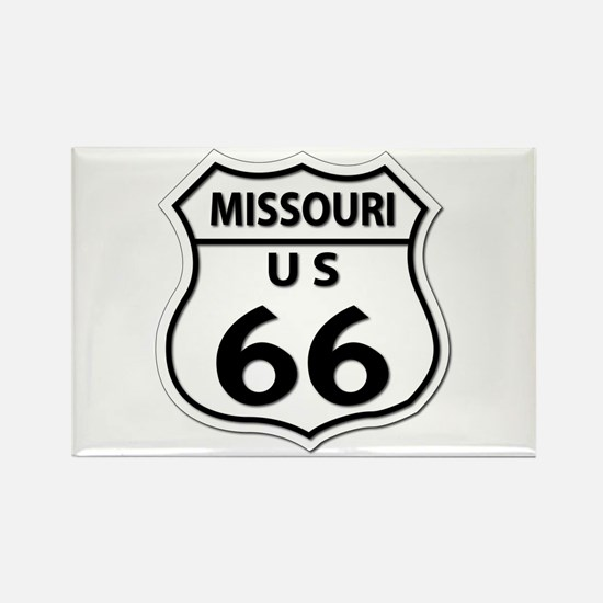 U.S. ROUTE 66 - MO Rectangle Magnet