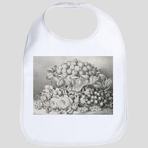 Fruit and flower piece - 1863 Cotton Baby Bib