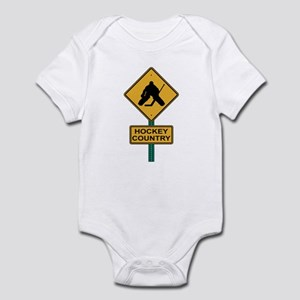 Hockey Country Road Sign Infant Bodysuit