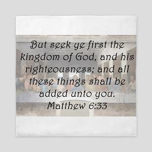 Matthew 6:33 Queen Duvet