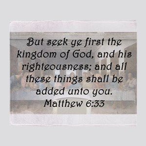 Matthew 6:33 Throw Blanket