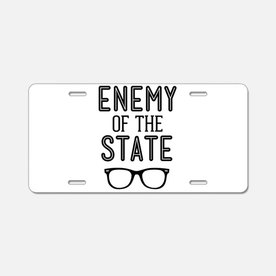 Enemy of the State Aluminum License Plate