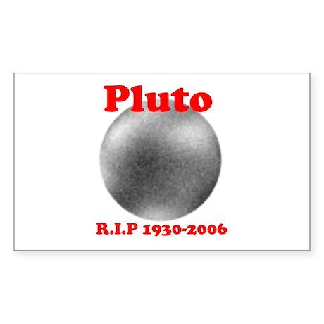 Pluto - Revolve in Peace Rectangle Sticker
