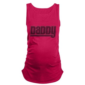 Daddy - Red Dark Maternity Tank Top
