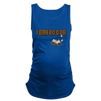 Teabagger Dark Maternity Tank Top