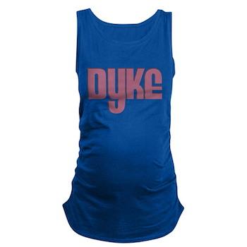 Pink Dyke Dark Maternity Tank Top