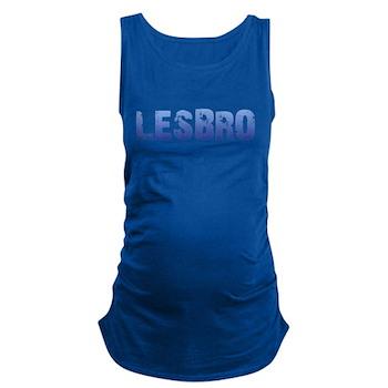 Blue Lesbro Dark Maternity Tank Top